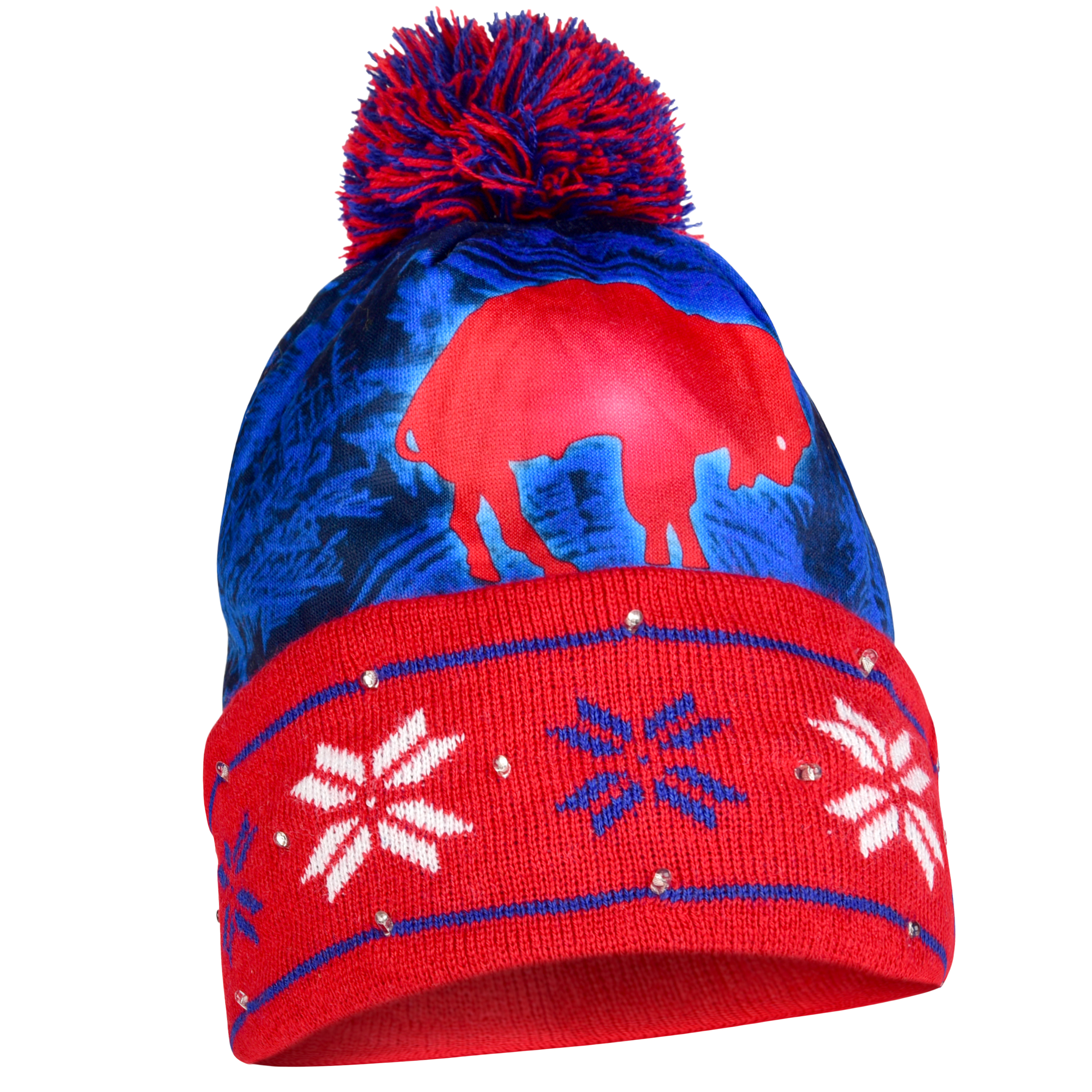 Buffalo Bills Official NFL Big Logo Beanie Stocking Stretch Knit Sock Hat by Forever Collectibles 738473 by Forever Collectibles