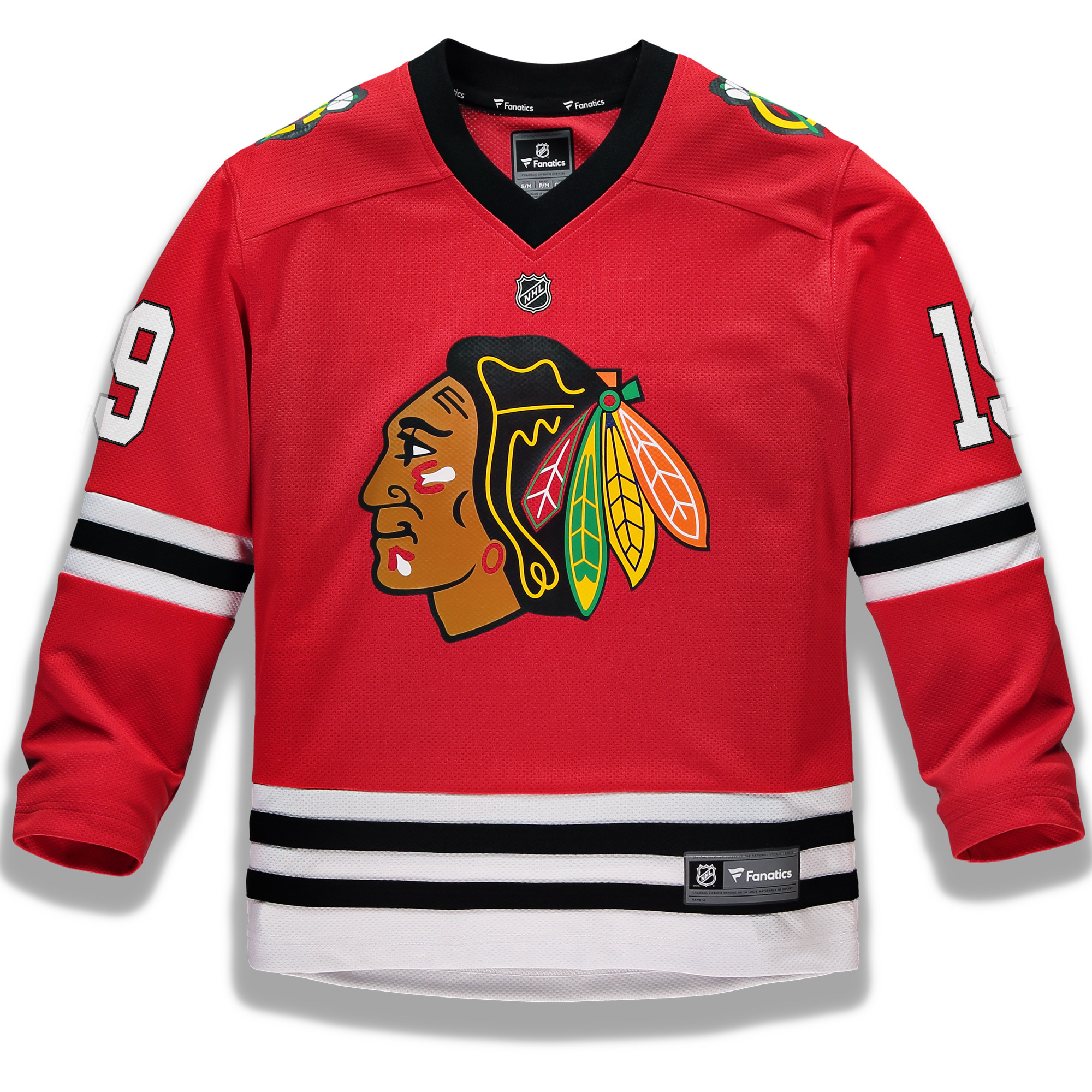 f302e0887a6 Jonathan Toews Chicago Blackhawks Fanatics Branded Youth Replica ...