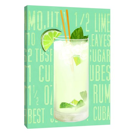 Ptm Images Mojito Vertical 16x20 Decorative Canvas Wall Art