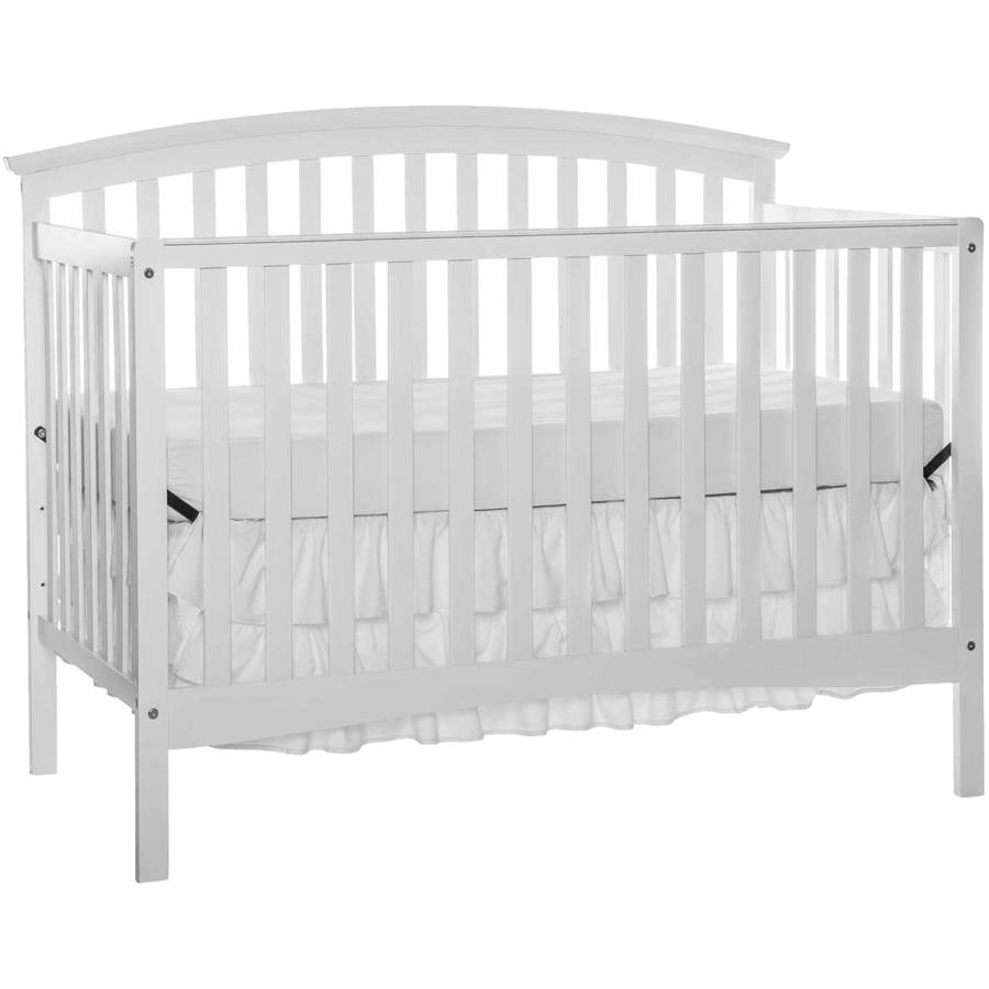 Dream On Me 4 in 1 Full Size Crib and Changing Table Combo with Dream On Me Spring Crib and Toddler Bed Mattress Twilight