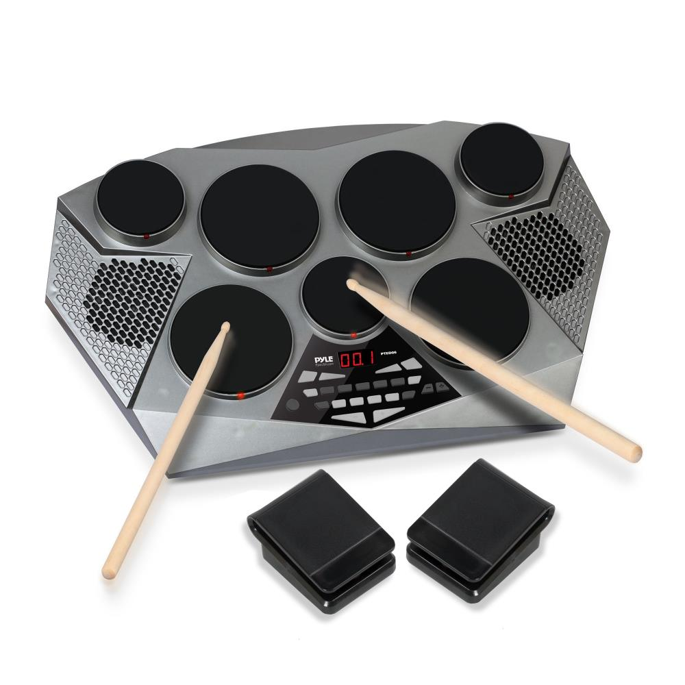 Pyle PTED06 - Electronic Tabletop Drum Machine - Digital Drumming Kit