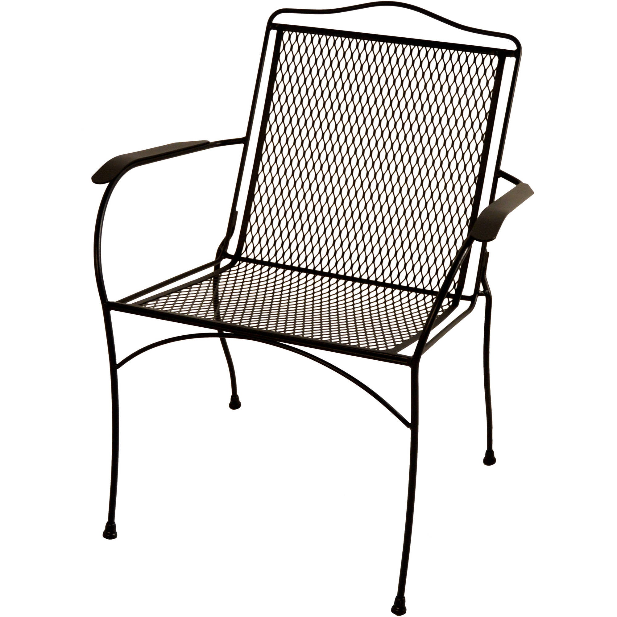 Wrought iron patio set white metal mid century patio set for Iron furniture
