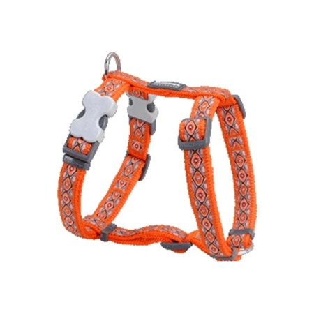 Red Dingo DH-SE-OR-ME Dog Harness Design Snake Eyes Orange, Medium