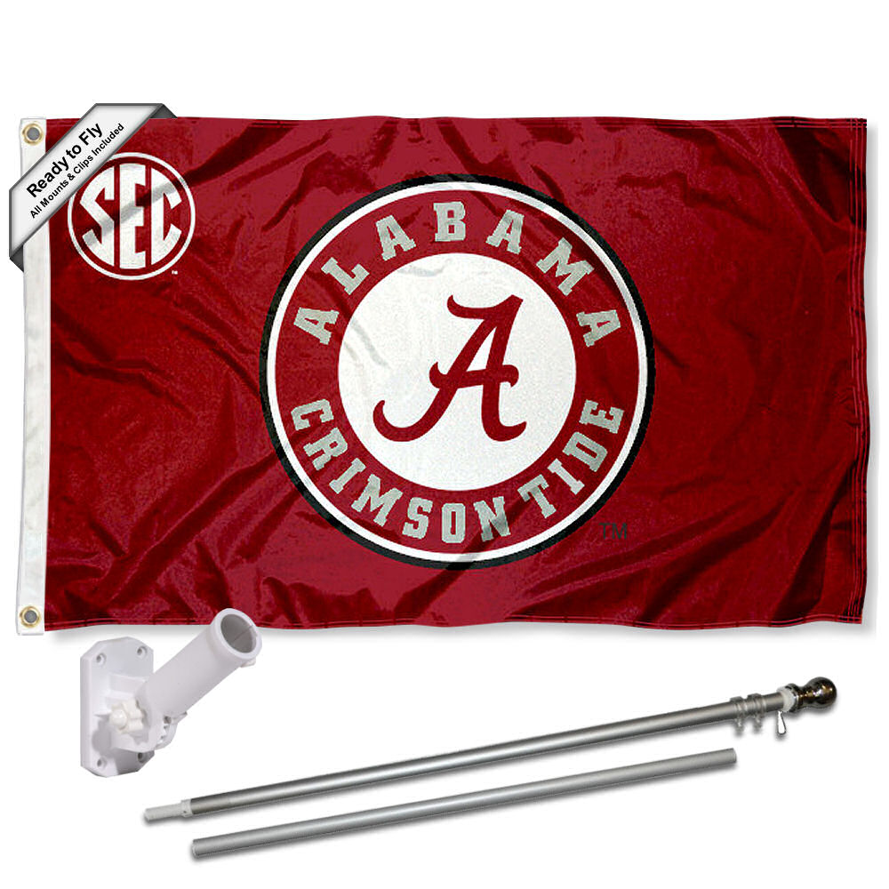 Alabama Crimson Tide SEC 3x5 Flag and Accessory Kit