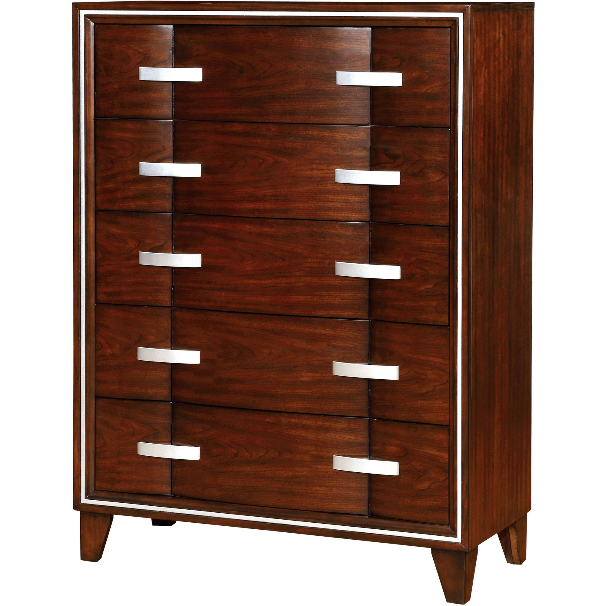 Furniture of America Maris Contemporary Bedroom Chest, Brown Cherry