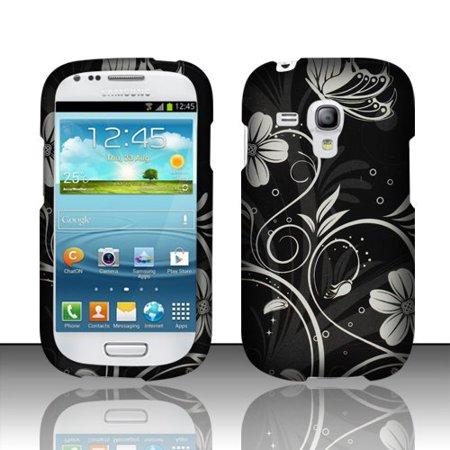 Design Rubberized Hard Case for Samsung Galaxy S3 Mini i8190 - White