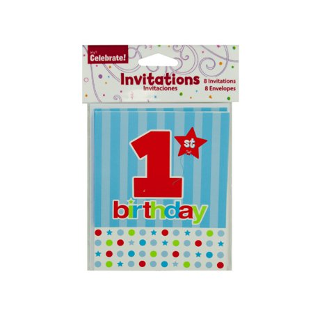 1St Birthday Invitations 24 Count