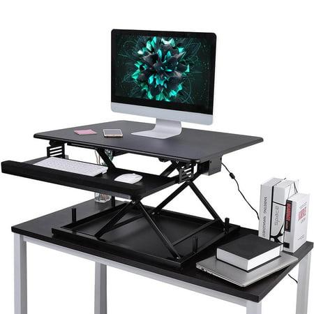 Fixed Height Desktop (Yescom Electric Height Adjustable Computer Desk Elevating Tabletop Desktop Converter Sit/Stand Work Lift Office Computer)