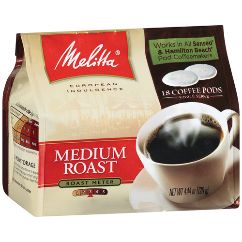 Melitta Medium Roast Coffee Pods, 18ct
