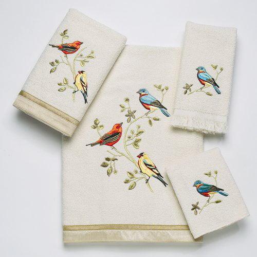 Avanti Linens Gilded Birds 4 Piece Towel Set