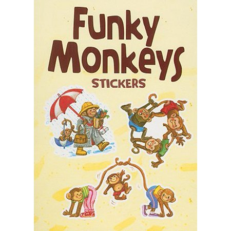 Funky Monkeys Stickers