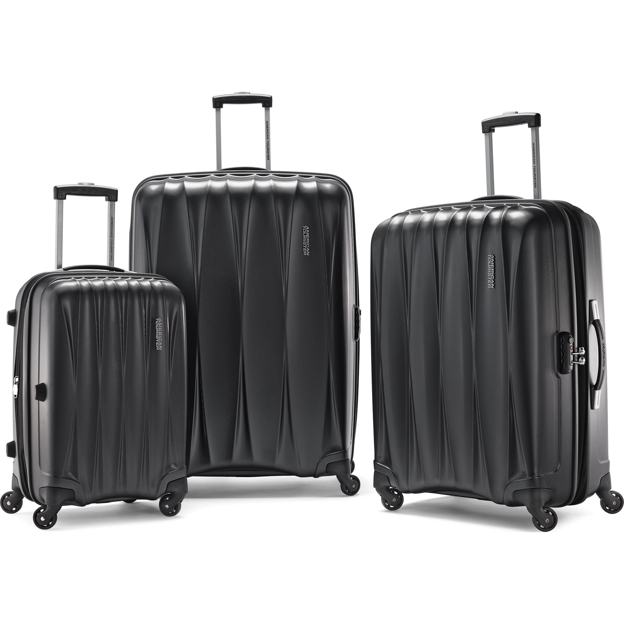 "American Tourister Arona Hardside Spinner 3Pcs Luggage Set 20"" 25"" 29"" Charcoal"