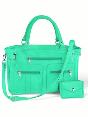 Product Image Women S Zippered 6 Pocket Microfiber Handbag