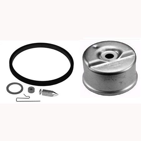 One New Aftermarket Replacement Tecumseh Carburetor Needle Kit with Float Bowl Replaces 631867 631021B