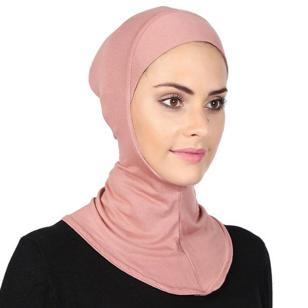 Muslim Women Soft Under Scarf Inner Cap Bone Bonnet Neck Cover Hijab Wrap C