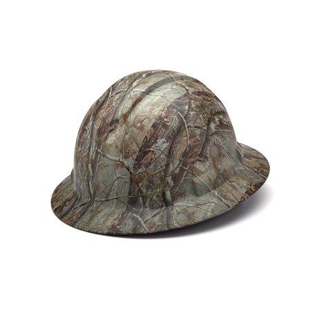 McStorz Pyramex Ridgeline Camouflage HP54119 Wide Brim Hard Hat Hunters Construction, Full Brim Hard Hat By Pyramex (Custom Printed Pyramex Hard Hat)