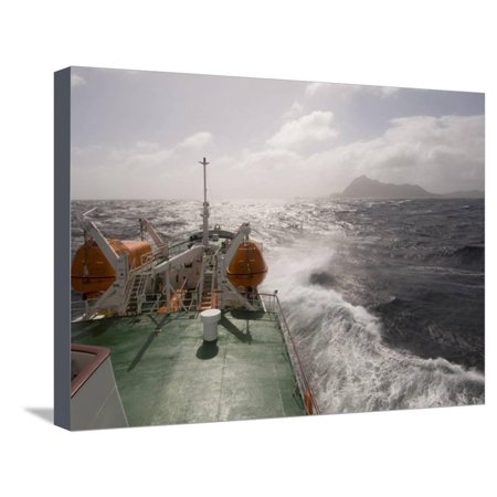 Antarctic Dream Navigation on Rough Seas Near Cape Horn, Drake Passage, Antarctic Ocean, Patagonia Stretched Canvas Print Wall Art By Sergio - Near Cape Horn