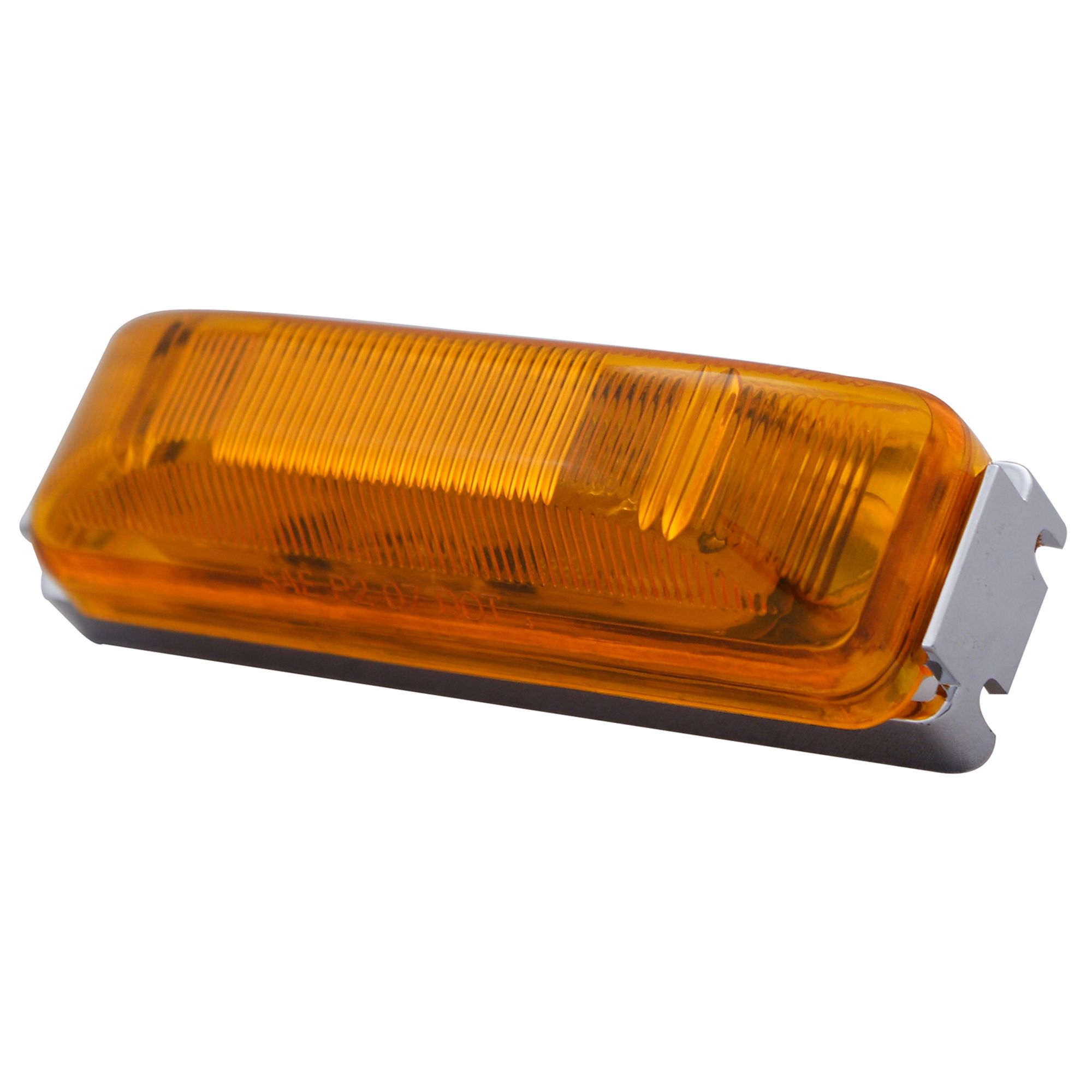 Pilot Automotive NV-5055A 12 Volt 4 inch Side Marker / Reflector Light-Amber Size: 4 x 1-3/16 x 1-1/4