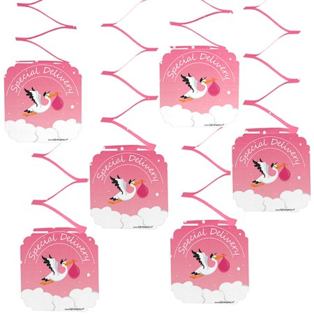 Girl Special Delivery Pink Its A Girl Stork Baby Shower Hanging