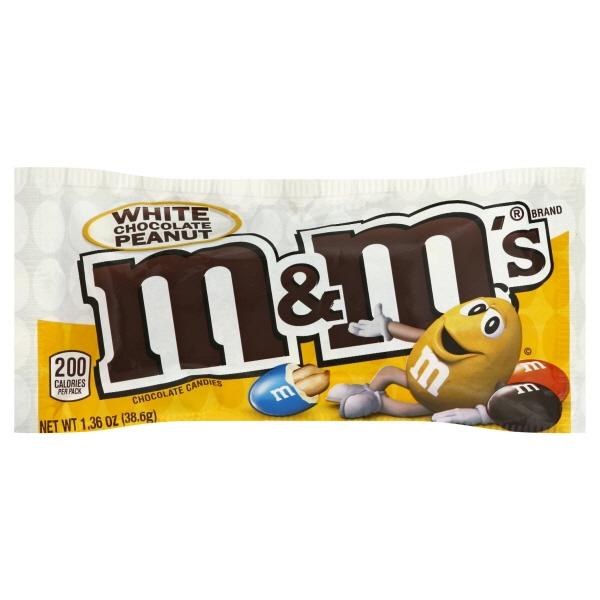 Mars Inc M&ms White Chocolate Peanut Singles