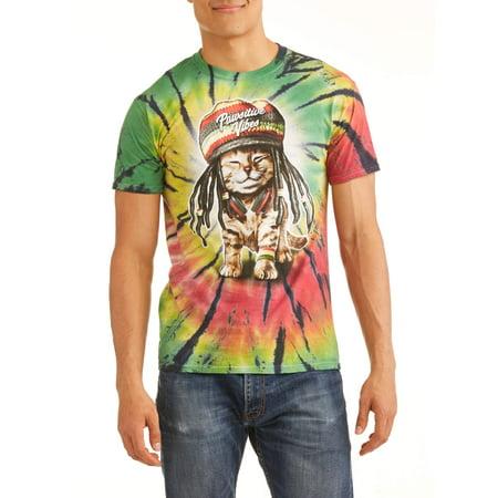 Coat 38 Short (Men's Pawsitive Vibes Rasta Cat Short Sleeve Graphic T-Shirt, up to Size)