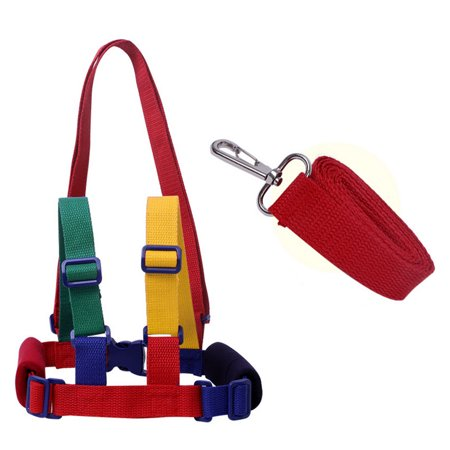 Baby Anti-lost Walking Assistant Helper Harness Toddler Walking Wings Protective Belt - Red + Blue + Green + Yellow