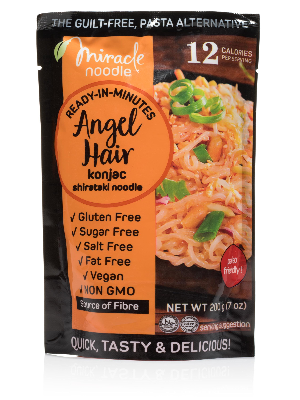 Ready In Minutes Angel Hair Konjac Shirataki Noodles 7 Oz Walmart Com
