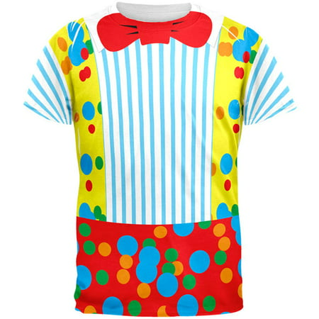 Halloween Clown Costume All Over Adult T-Shirt](Clown Clothes)