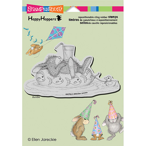 Stampendous Happyhopper Cling Rubber Stamp 5.5 Inch X 4.5 Inch She