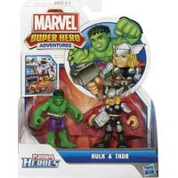 Marvel Super Hero Adventures Hulk & Thor Action Figure 2-Pack