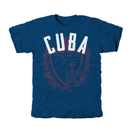 Cuba Coat Of Arms Tri-Blend T-Shirt - Royal -