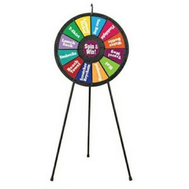 Games People Play 63003 12 Slot Floor Stand Prize Wheel Game 31 inch Diameter