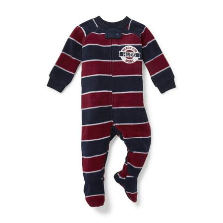 Stripe Sleeper (Long Sleeve Striped Footed Blanket Sleeper (Baby Boys & Toddler Boys))