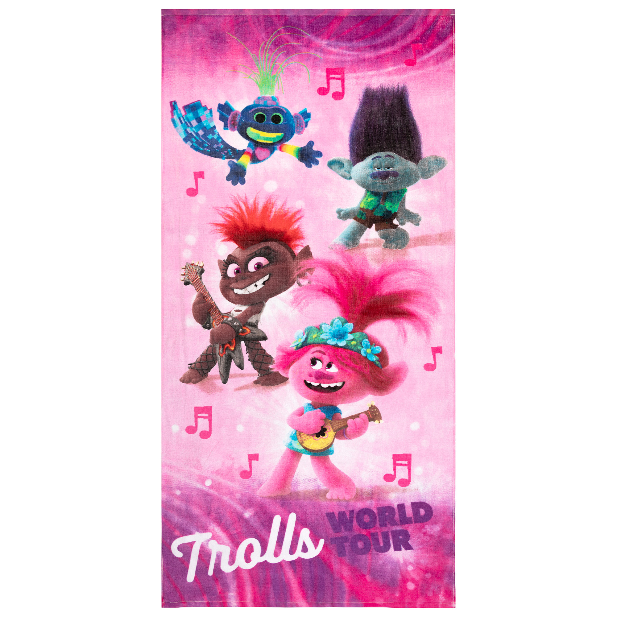 28 Inches x 58 Inches Trolls 2 World Tour Youth Super Soft Cotton Beach Towel