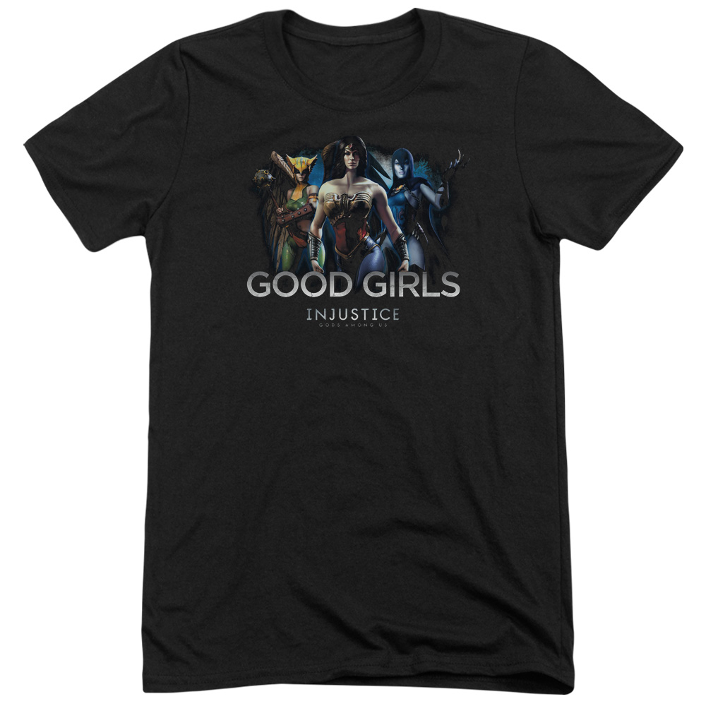 Injustice Gods Among Us Good Girls Mens Tri-Blend Short Sleeve Shirt