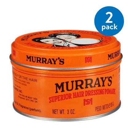 (2 pack) Murray's Superior Hair Dressing Pomade, 3 (Best Pomade For Wavy Hair)