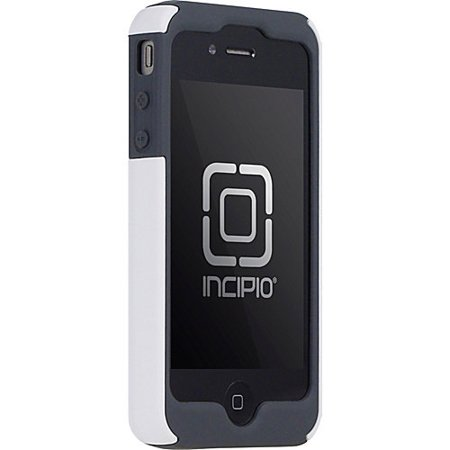 Incipio iPhone 4/4S SILICRYLIC Kickstand Hard Shell Case with Silicone Core - 1 Pack - Retail Packaging - Gray/Magenta