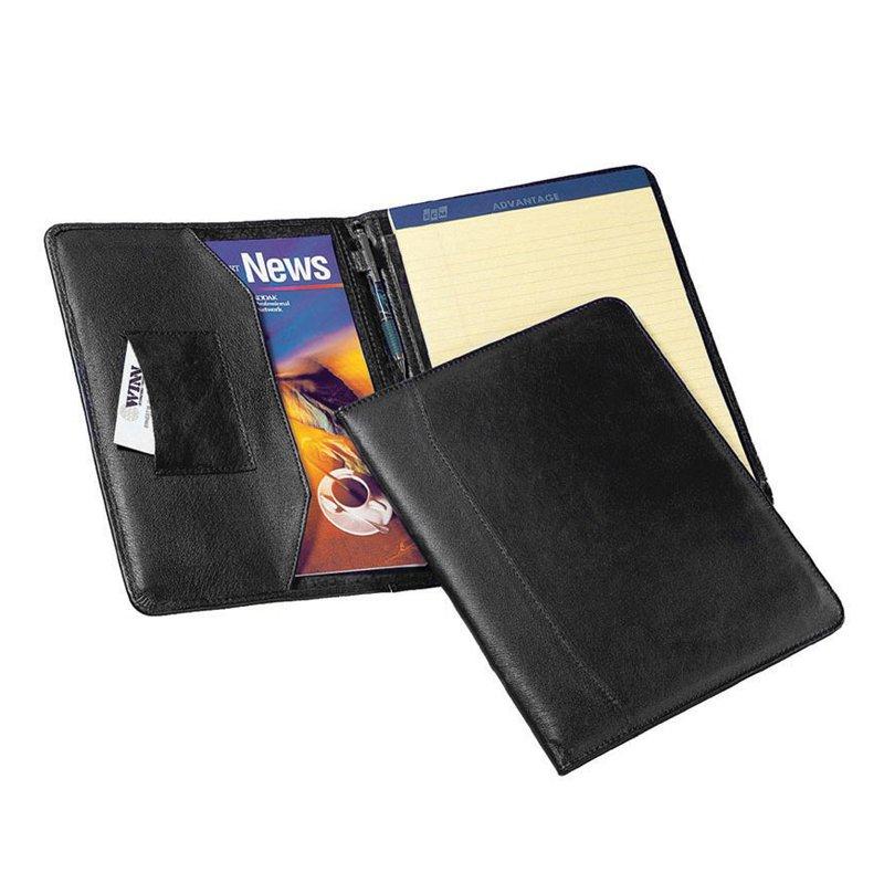 "Winn International ""The Advisor"" Cowhide Napa Leather Letter Size Pad Holder"