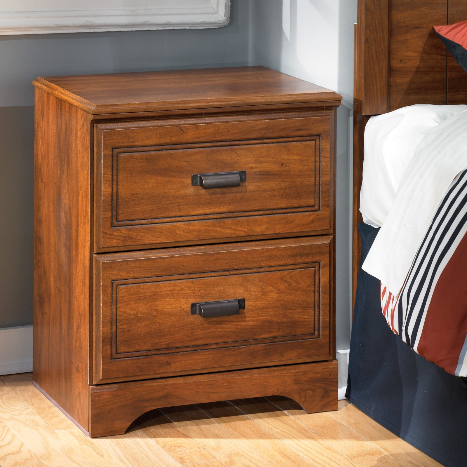 Signature Design by Ashley Barchan 2 Drawer Night Stand