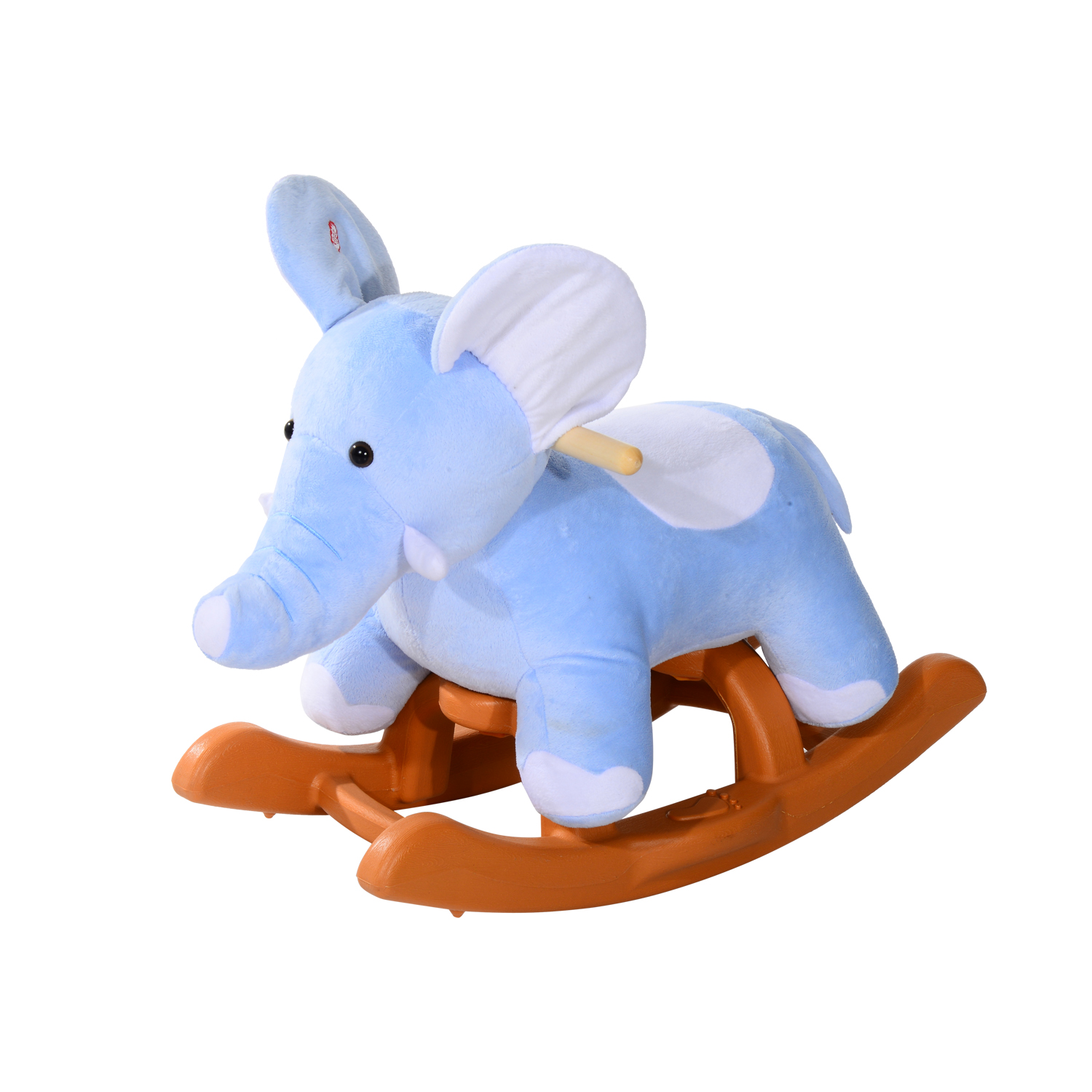 Qaba Kids Plush Rocking Horse Style Elephant Theme Rocker Chair