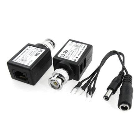 2pcs CCTV Camera Twisted Pair UTP Cat5 BNC RJ45 Video Balun Power Transceiver