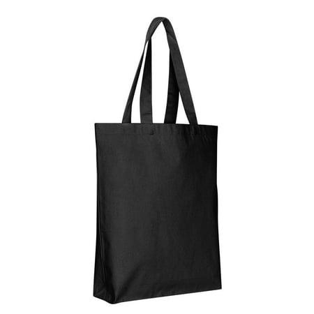 Canvas Tote Bags Bulk Blank W Bottom Gusset Tg200 Set Of 6 Black