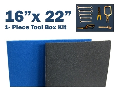 "Tool Box Foam 16.625"" x 22.25"" 1 2"" Thick (1 Piece) Blue by 5S Supplies LLC"