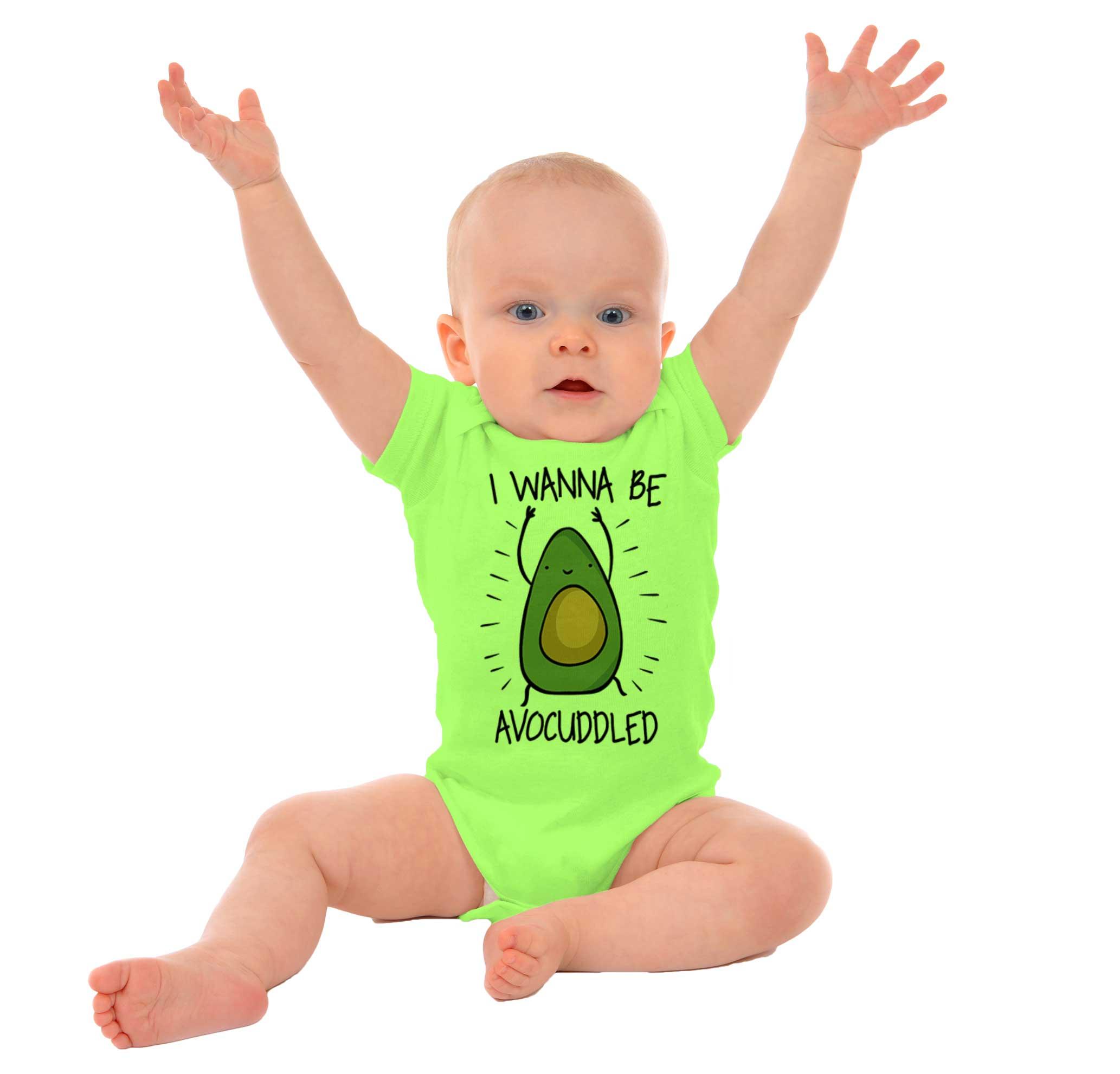 Avocado I No Fat Baby Boys Girls Jumpsuit Short-Sleeve Romper Bodysuit