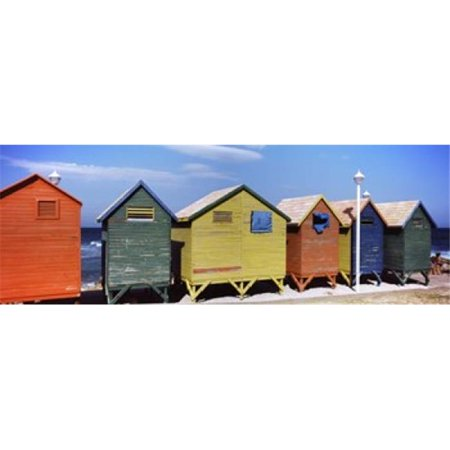 Panoramic Images Western Print (Panoramic Images PPI122413L Colorful huts on the beach  St. James Beach  Cape Town  Western Cape Province  South Africa Poster Print by Panoramic Images - 36 x 12 )