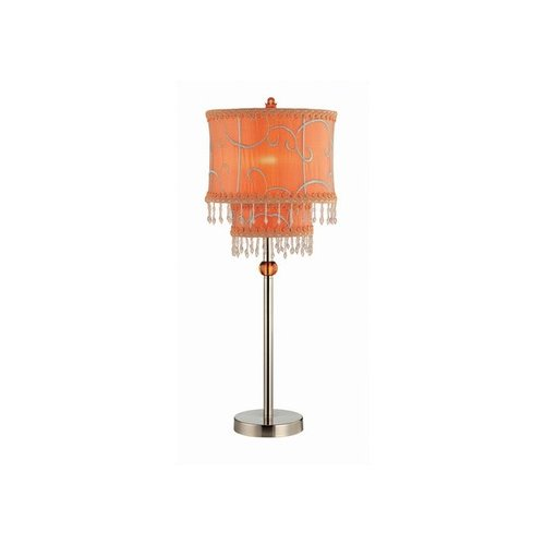 Lite Source LS-20295PS/ORN Sandy Orange Beaded Lamp