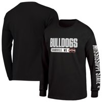 Men's Russell Athletic Black Mississippi State Bulldogs Hit Long Sleeve T-Shirt