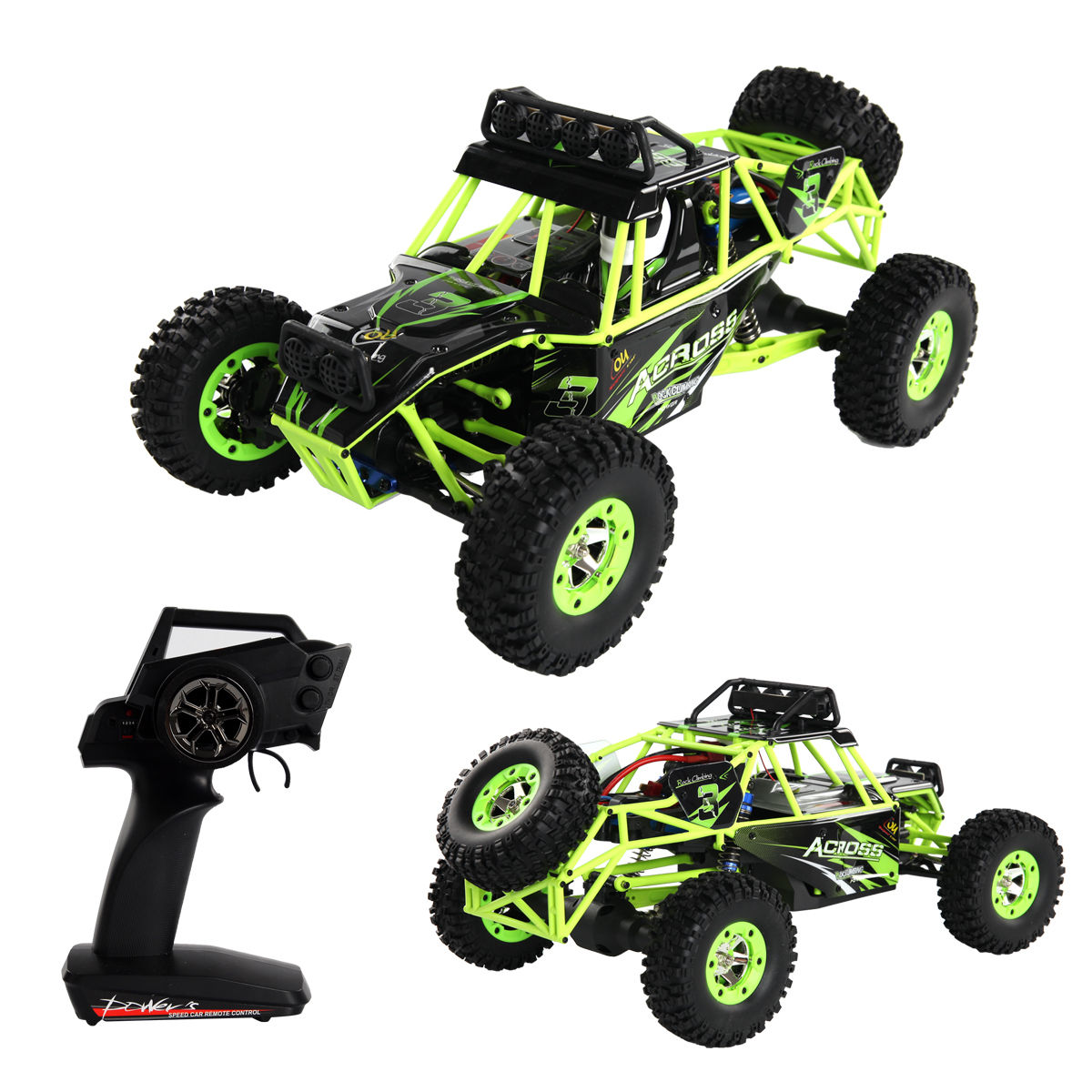 Costway 1:12 2.4G 2WD RC Off-Road Racing Car Radio Remote Control Rock Crawler Truck RTR by Costway