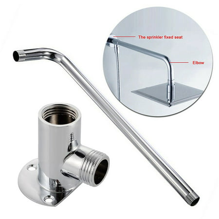 Shower Head Wall Arm Mounted Tube Rainfall Bracket Stainless