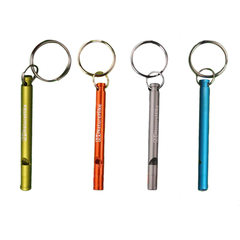 Survival Whistle Aluminum Whistle Emergency Camping Compass Kit Outdoor Gear,orange